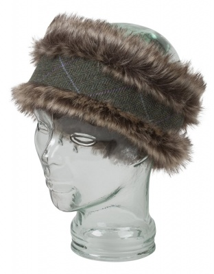 Hoggs of Fife Albany Ladies Faux Fur Lambswool Headband