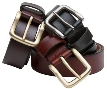 Hoggs of Fife Luxury Leather Belts - Black