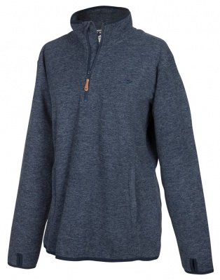 Hoggs of Fife Woburn All-Season Pullover - Marled Blue