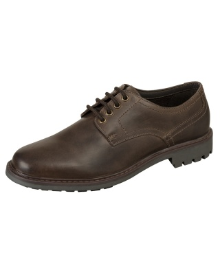 Hoggs Of Fife Brora Derby Shoe - Dark Brown