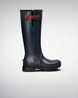 Hunter Womens Field Neoprene Adj Tall - Navy/Peppercorn