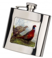 Bisley 6oz Square Pheasant Flask