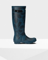 Hunter National Trust Print Norris Field Boot - Dusk