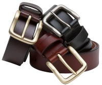 Hoggs of Fife Luxury Leather Belts - Dark Brown