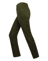 Hoggs Of Fife Ladies Straight Leg Stretch Moleskin Jean - Dk Olive