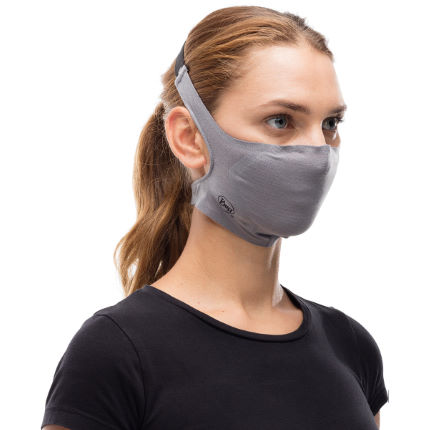 Buff Filter Mask - Solid Grey Sedona