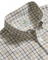 Hoggs of Fife Berwick Cotton Short-Sleeve Tattersall Shirt