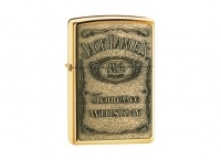 Zippo Jack Daniels - High Polish Brass Regular Lighter