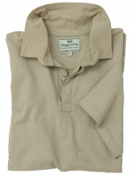 Hoggs of Fife - Short Sleeve Cotton Rugby Shirt - Stone