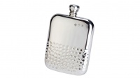 David Nickerson Half Hammered Kidney Pewter Flask
