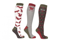 Toggi Harwood Ladies 3 Pack Socks
