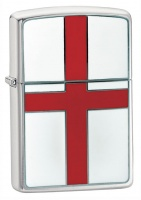 Zippo England Brushed Chrome Regular Lighter