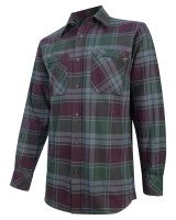Hoggs Of Fife Eden Luxury Hunting Shirt Burgundy/Green