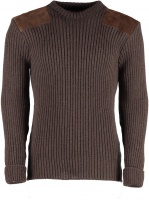 Niffi Rothley Crew Neck Sweater - Peat Brown
