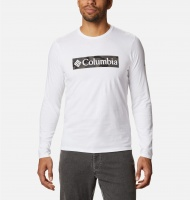 Columbia Men's Lookout Point LS Graphic Tee - White Camo