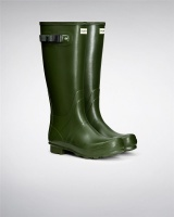 Hunter Mens Norris Field Wellington Boots - Vintage Green