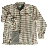 Hoggs of Fife Bracken Micro Fleece Lined Shirt - Olive/Tan