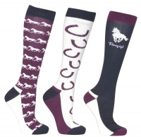 Toggi Hebden Ladies 3 Pack Socks