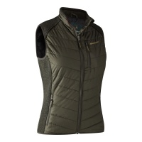 Deerhunter Lady Caroline Padded Waistcoat with knit - Timber