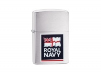 Zippo Royal Navy Brushed Chrome Regular Lighter