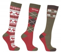 Toggi Lowick Ladies 3 Pack Socks