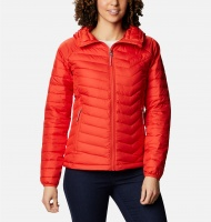 Columbia Ladies Powder Lite Hooded Jacket - Bold Orange
