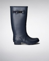 Hunter Womens Huntress Wellington Boots - Navy