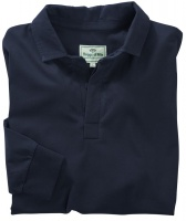 Hoggs of Fife Premier Cotton Rugby Shirt Long Sleeve Dark Navy