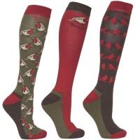 Toggi Hartley Ladies 3 Pack Socks