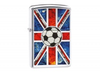 Zippo Fusion Soccer Ball High Polish Chrome Regular Lighter