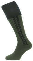 Hoggs of Fife - Contrast Cable Socks / Stocking