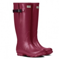 Hunter Womens Norris Field Side Adjustable Boots - Raspberry/Burgundy