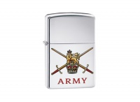 Zippo British Army High Polish Chrome Regular Lighter