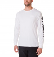 Columbia Men's North Cascades Long Sleeve Tee - White