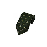Hoggs of Fife Silk Country Tie - Tractor Motif