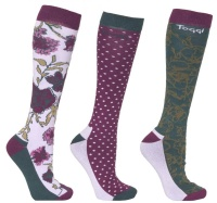 Toggi Halton Ladies 3 Pack Socks