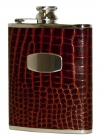 Bisley 6oz Brown Croc Flask