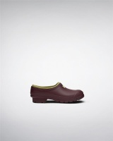 Hunter Womens Gardener Clogs - Burgundy