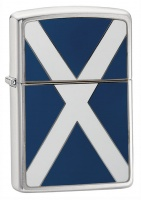 Zippo Scotland Brushed Chrome Regular Lighter