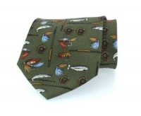 Hoggs of Fife Silk Country Tie - Angling Motif