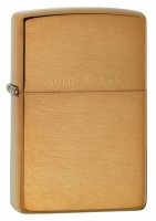 Zippo Brushed Brass Regular Lighter