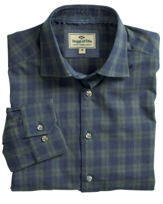 Hoggs Of Fife Angus Check Shirt - Navy/Olive